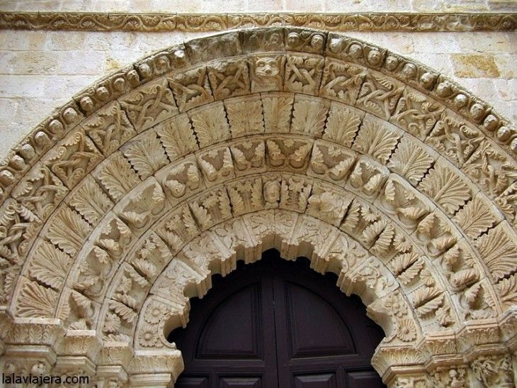 Portada sur de la Iglesia románica de Santa María Magdalena, Zamora