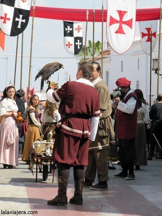 Exhibiciones de cetrería, Feria Medieval del Descubrimiento, Palos de la Frontera, Huelva