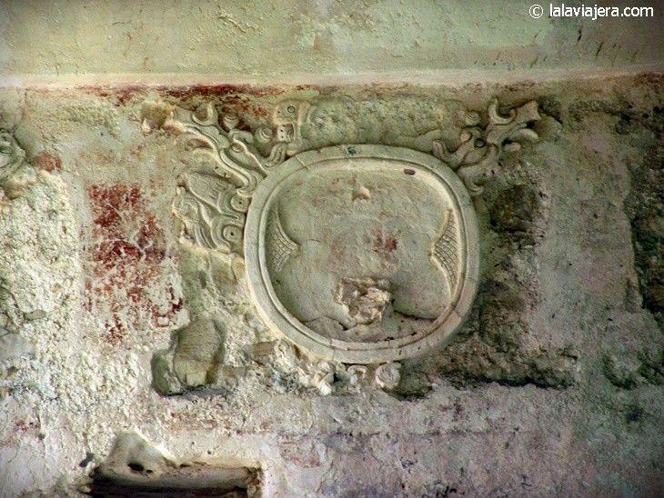 Inscripciones jeroglíficas en la ciudad maya de Palenque
