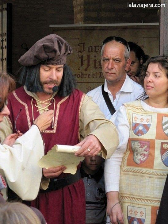 Discurso de Pinzón en la Feria Medieval del Descubrimiento de Palos de la Frontera