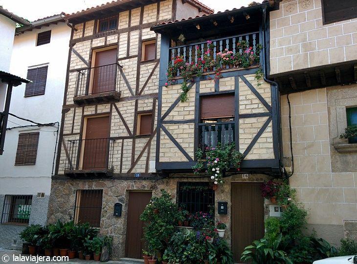 Arquitectura típica de La Vera en el Barrio de la Huerta, Garganta la Olla