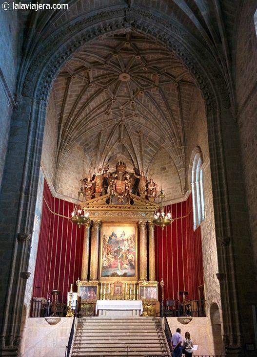 Altar Mayor de la iglesia del Santuario de Yuste