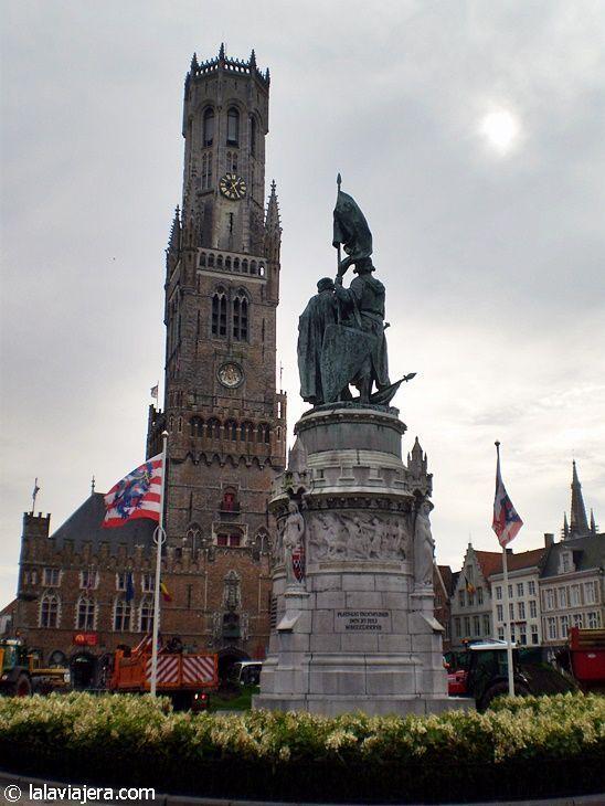 Plaza Markt, en Brujas