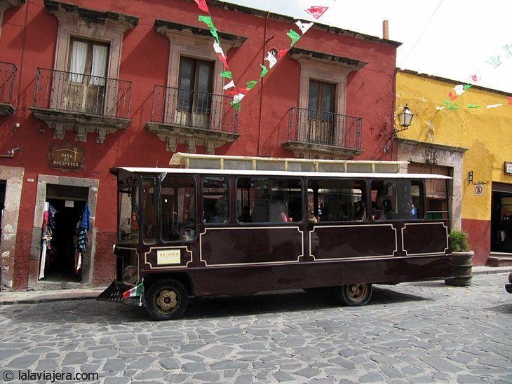 Tranvía turístico en San Miguel de Allende