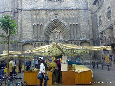 Mercadillo Plaza Pi, Barrio Gotico Barcelona