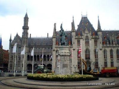 Estatua Pieter Corninck y Jan Breidel, Markt Brujas