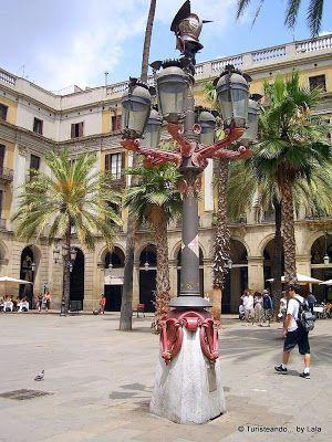 Farola Gaudi, Plaza Real Barcelona