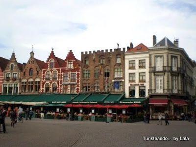 plaza markt brujas, flandes