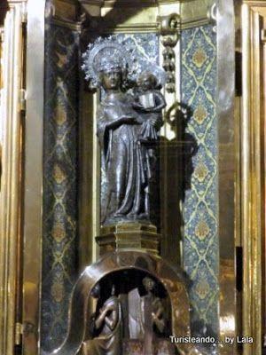 Virgen santuario lluc, la moreneta, mallorca