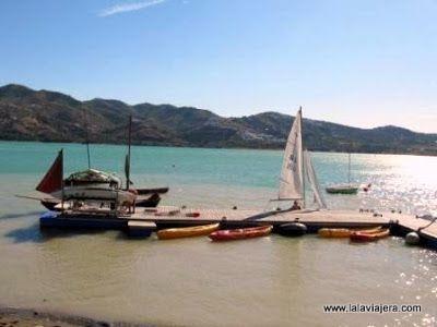 Kayaks Windsurf Pantano Embalse Viñuela, Malaga