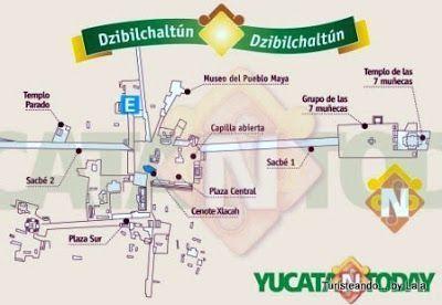 mapa Dzibilchaltun